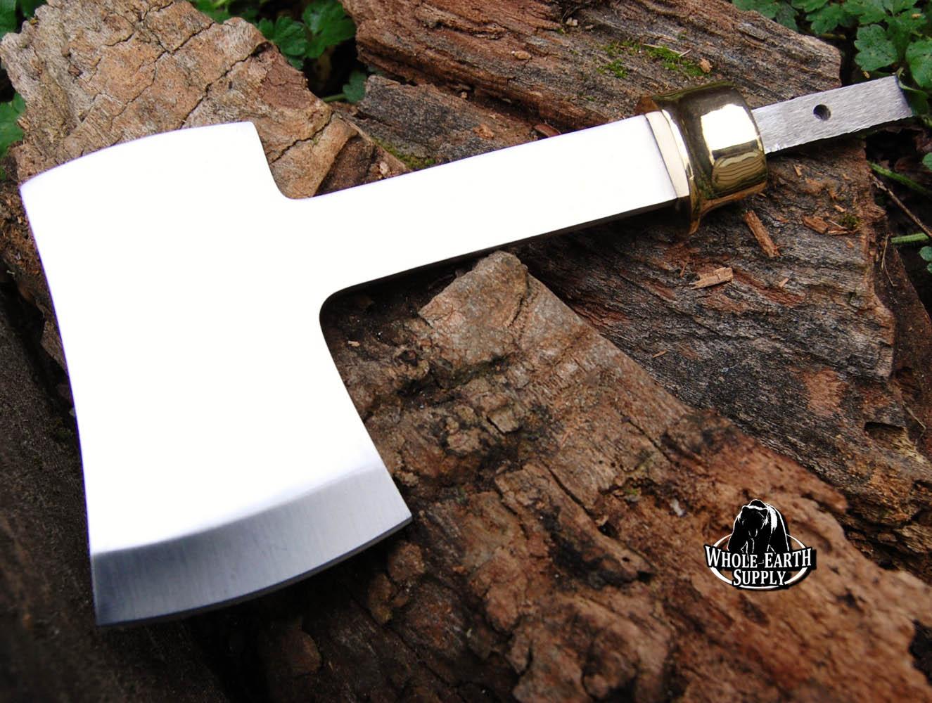 Damascus-Blades com - CUSTOM BLANK Axe Head Knife making Blade with